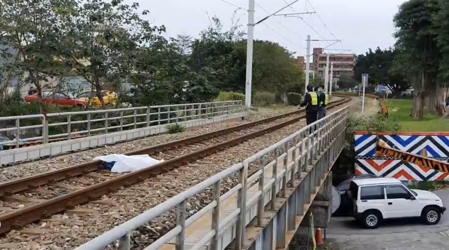 事故段在花蓮、吉安之間鐵軌,距離花蓮站約一公里。(翻攝照片/王志偉花蓮傳真)