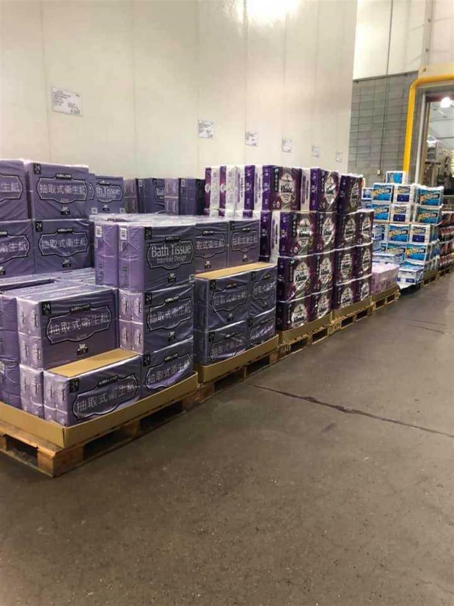 美式賣場衛生紙掀起搶購潮。(圖/Costco好市多 商品經驗老實說臉書)
