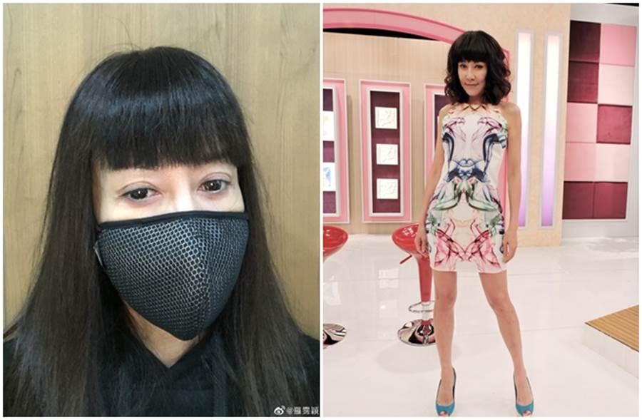 羅霈穎自爆買了1片6百元的口罩。(取自羅霈穎微博、本報系資料照)