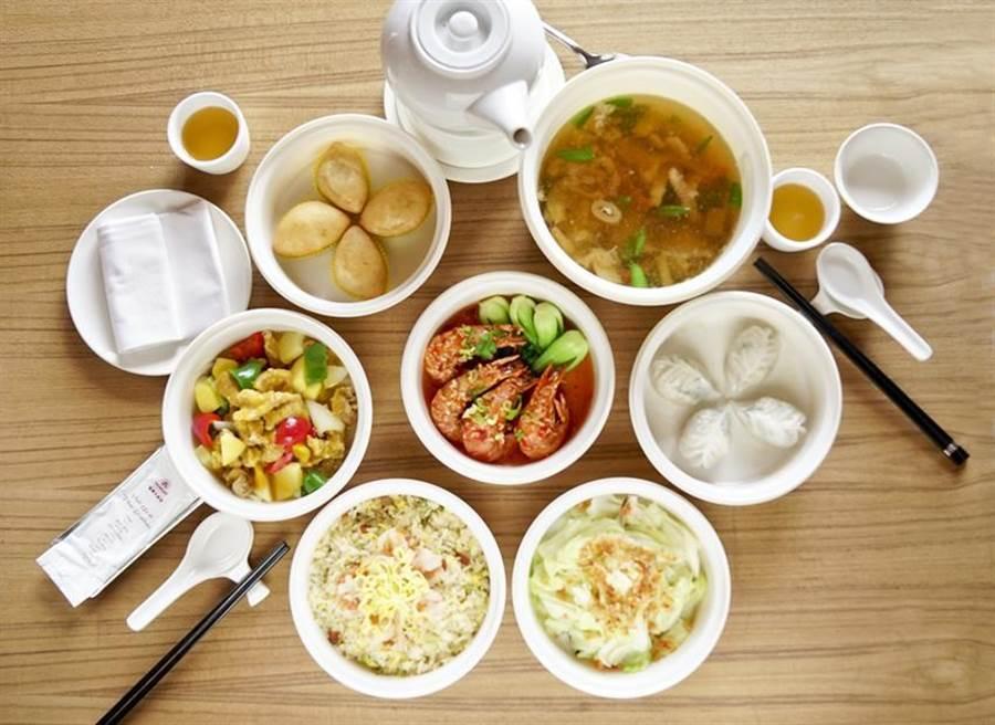 (台中福華大飯店單次單點合菜2,999元或餐盒10個以上,5公里內免費外送。圖/台中福華)