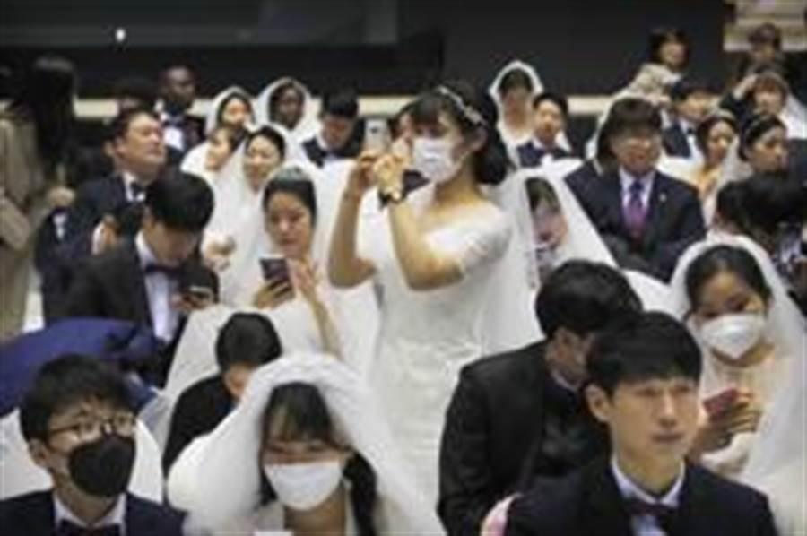 統一教集團婚禮(美聯社)