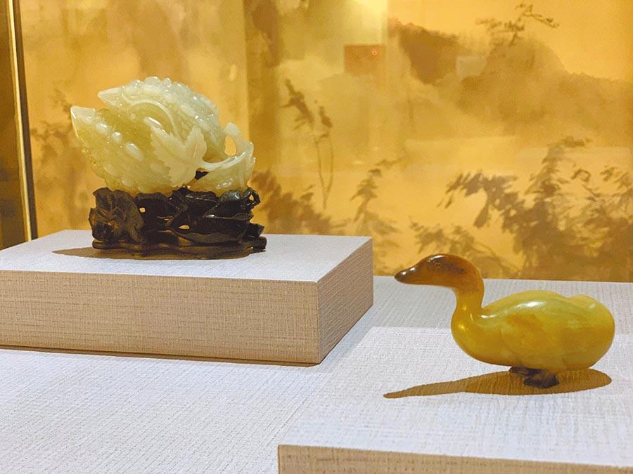 故宮國寶黃頭鴨和白玉錦荔枝來了,彰化養鴨和苦瓜都是特產,欣賞故宮文物的同時,也認識彰化在地農業。(彰化縣文化局提供/吳敏菁彰化傳真)