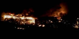 外雙溪花園餐廳晚間火警 火勢驚人
