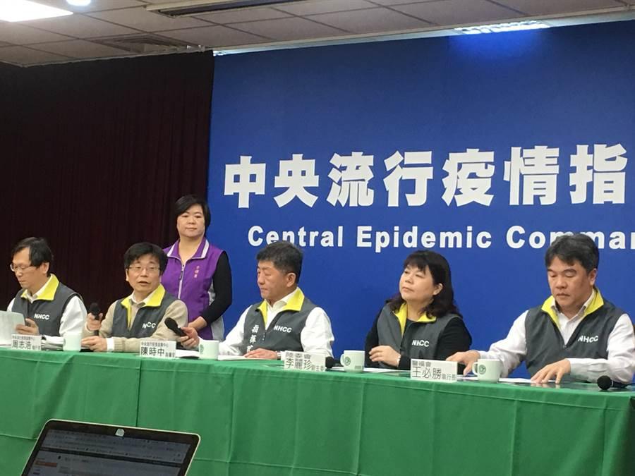 中央疫情指揮中心今(8)日上午10:00召開記者會,說明疫情及防疫作為最新進度。(林周義攝)