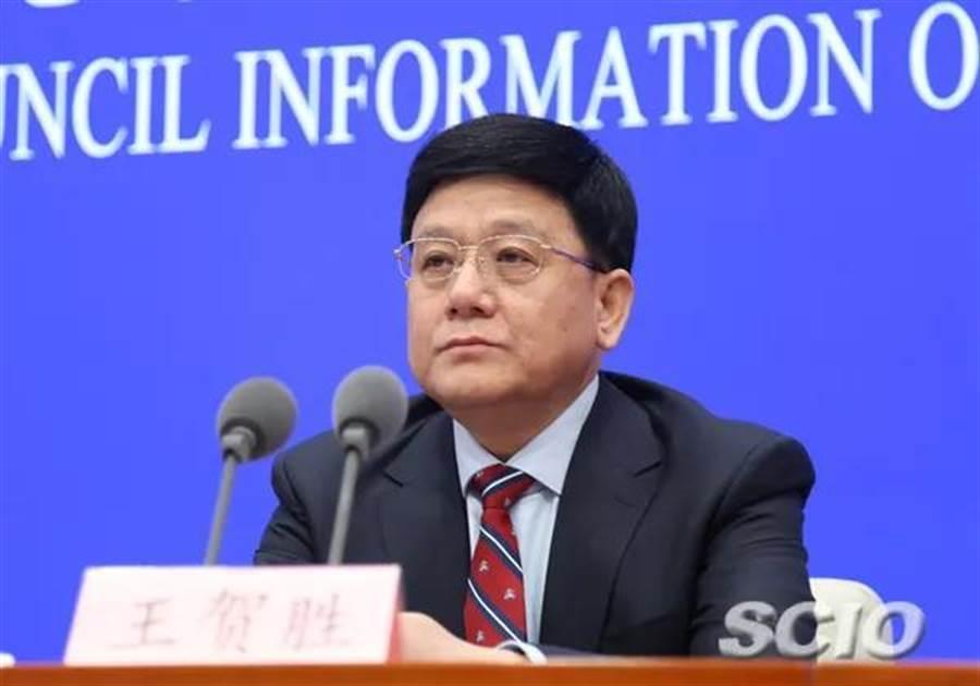 大陸原國家衛健委副主任王賀勝,調任湖北省委常委。(取自大陸國新辦)