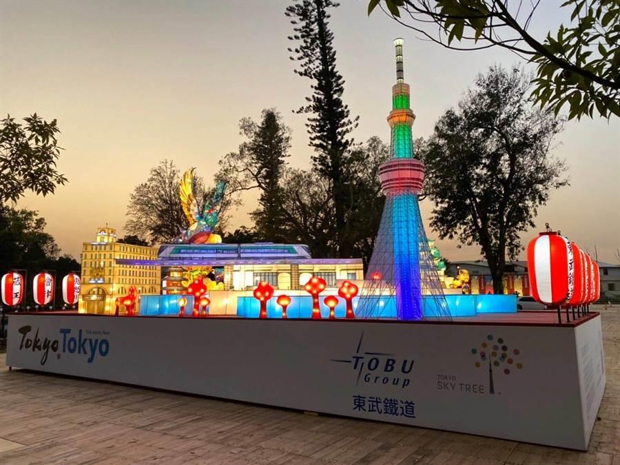 東武集團以東京都內的老城市融合現代新風貌,呈現「幸福之樹」東京晴空塔及香火鼎盛的淺草。(交通部觀光局提供/王文吉台中傳真)
