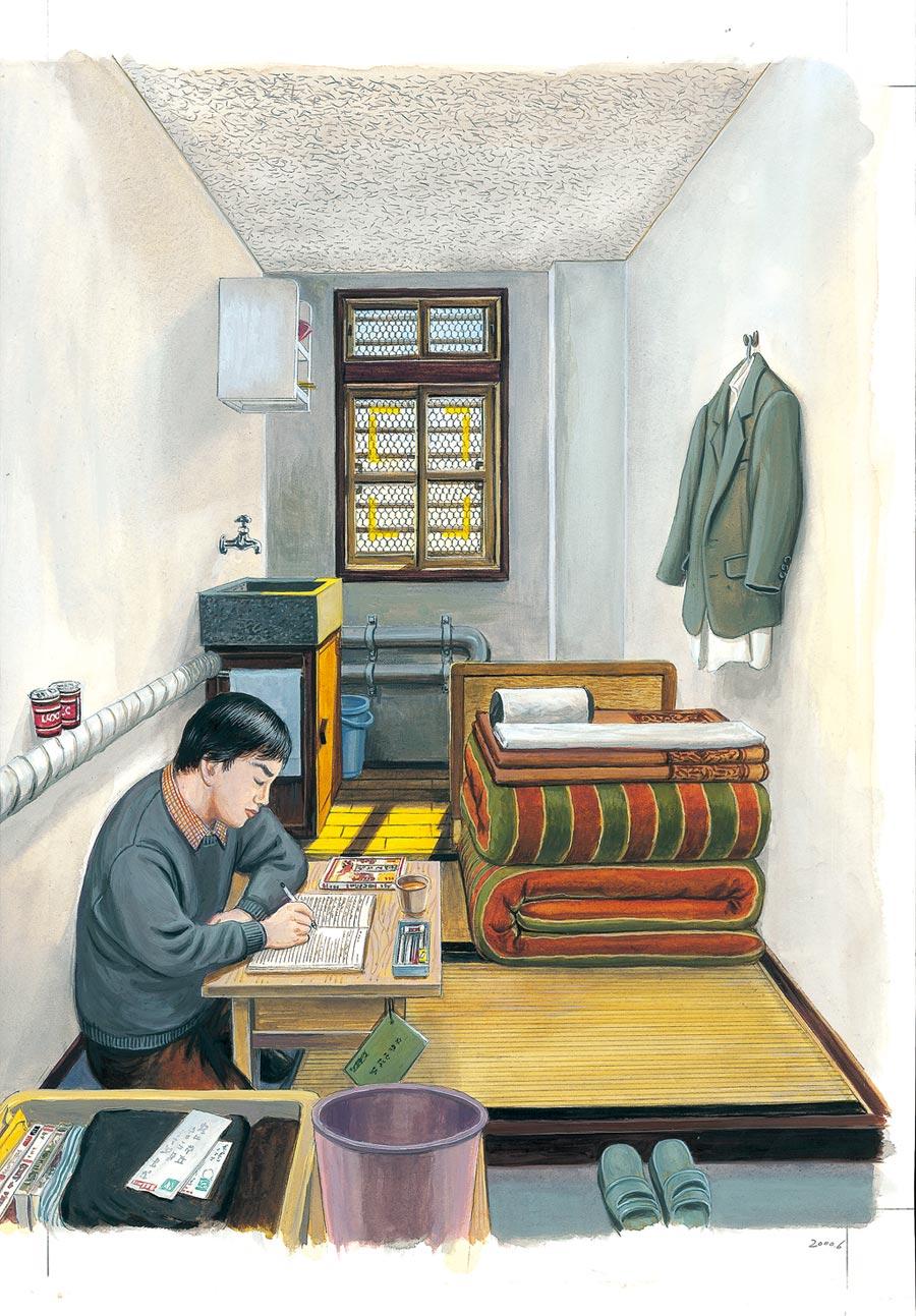 日本異色漫畫大師花輪和一入獄3年後,創作《刑務所之中》,顛覆一般人的想像,充斥了美食及獄友間的瑣碎事蹟。(臉譜出版提供)