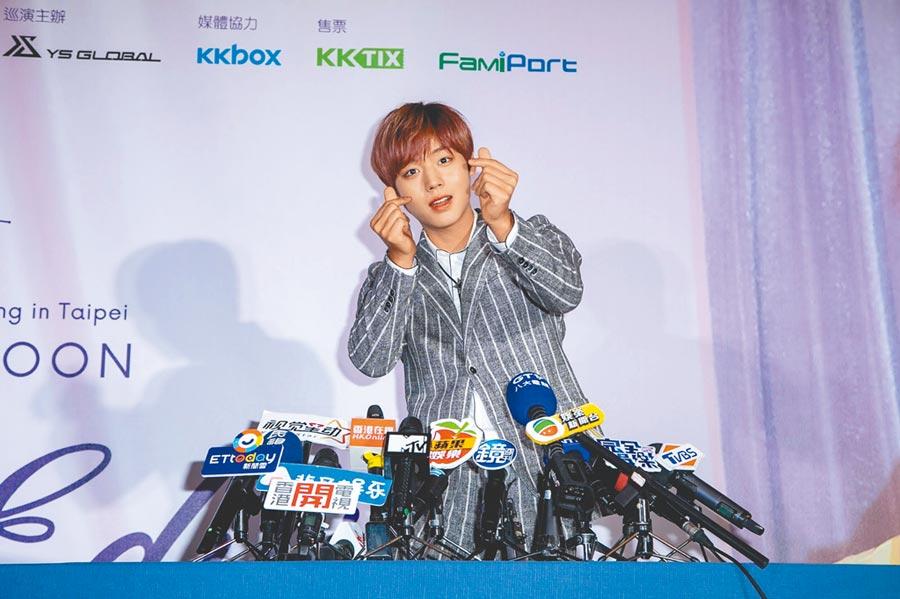 朴志訓是Wanna One中首位單獨到台灣辦見面會的團員。(資料照片)