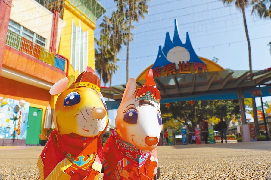 麗寶樂園渡假區的各單位在燈會檔期推出許多活動,讓民眾能免費獲得台灣燈會「吉利鼠與美力鼠」小提燈。(麗寶樂園渡假區提供)