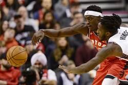 NBA》暴龍驚險撕網 隊史新高14連勝