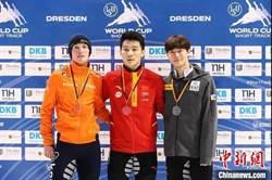 短道速滑世界盃德國站比賽 任子威為大陸隊奪首金