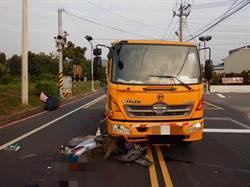 中市垃圾車與機車發生撞擊  7旬男騎士送醫不治