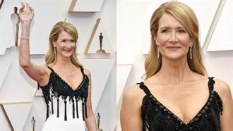 奧斯卡2020》蘿拉鄧恩「胸部噴汁」走紅毯!新奇禮服網看傻