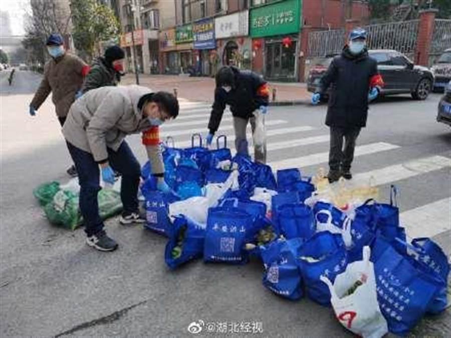武漢華大家園小區,無感染及疑似病例。(圖/摘自湖北經視微博)