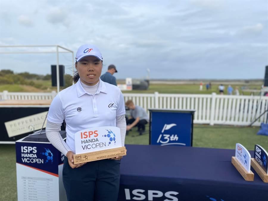 年僅17歲的高爾夫小將安禾佑未來發展值得期待。(中華高協提供)