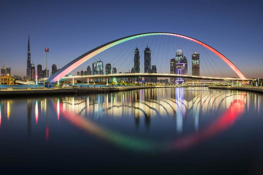 杜拜迷人的城市風光。圖:業者提供
