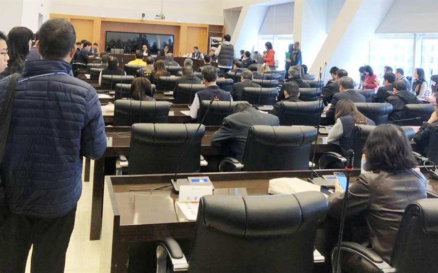 台中市議會10日召開程序委員會,宣布暫緩召開臨時會。(市議員江肇國提供/陳世宗台中傳真)