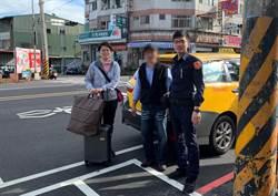 馬國旅客伴手禮掉在計程車上 中市警快速找回