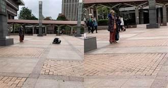 超完美女友!北車遇正妹「趴地上」幫男友拍照 竟是大明星情侶檔