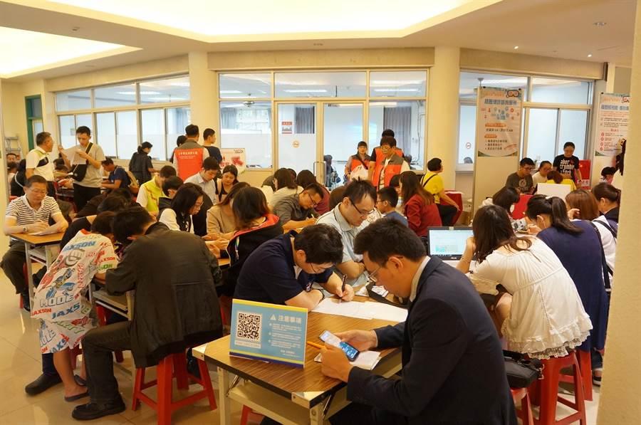 台中市主計處表示,台中市2019年平均失業率3.7%,與2018年相同,連4年均為六都最低,與台北市、台南市及高雄市並列六都最低。(台中市府提供/盧金足台中傳真)