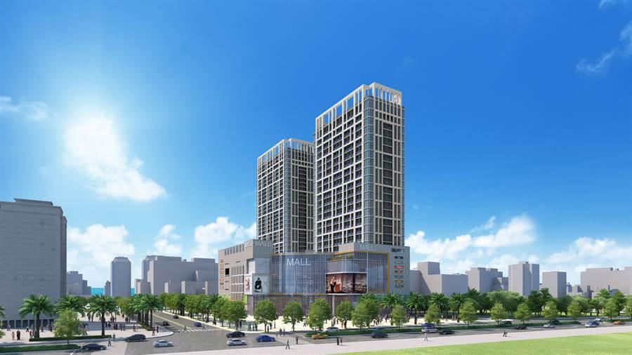 ▲豐采520更創下了新竹第一座結合百貨、辦公、娛樂、住宅的複合式建築。/圖業者提供