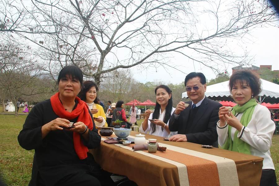 暨南大學櫻花季將推出茶席等賞櫻活動。(廖志晃攝)