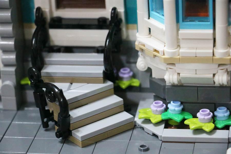 LEGO 10270 書店細部照片。(黃慧雯攝)