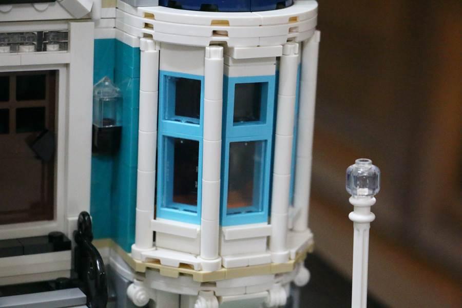 LEGO 10270 書店細部照片2。(黃慧雯攝)