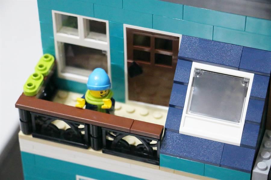LEGO 10270 書店細部照片3。(黃慧雯攝)