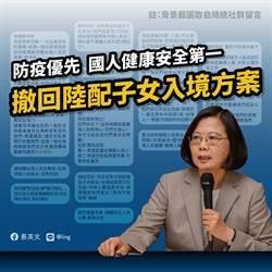 陸配子女入境規定 蔡英文基於防疫優先決定撤回