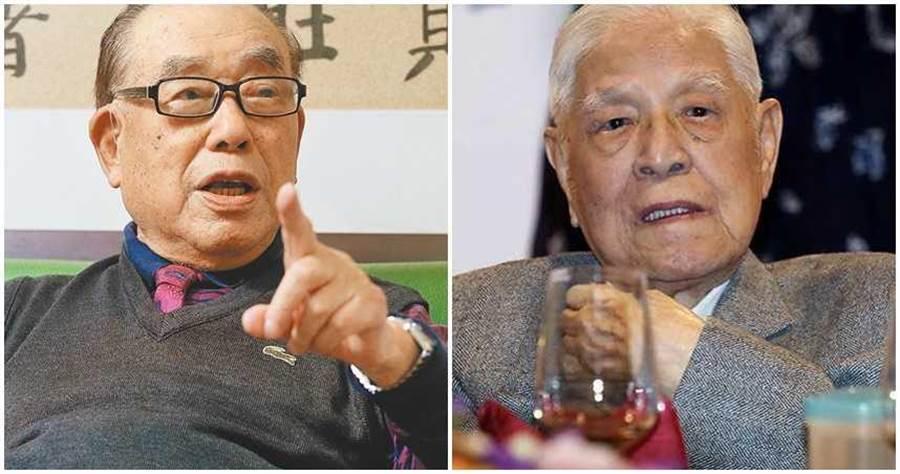 郝柏村(左)、李登輝(右)。(圖/報系資料照)