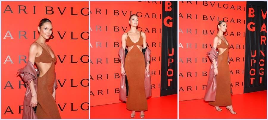 南非超模Candice Swanepoel耀眼出席寶格麗2020 B.zero1 Rock系列上市派對。(圖/品牌提供)