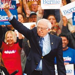 民主黨新州初選 桑德斯小贏