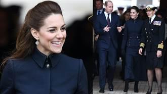 凱特王妃抽高秀細腿?本季必收黑靴配軍裝裙