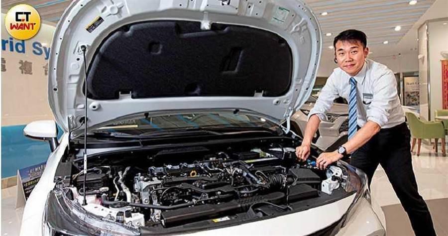 呂昱騰善用修車專業幫助客戶解決許多疑難雜症,建立起客戶的信任感。(圖/黃耀徵攝)