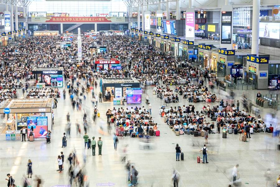 圖為上海虹橋車站。(示意圖/達志影像)