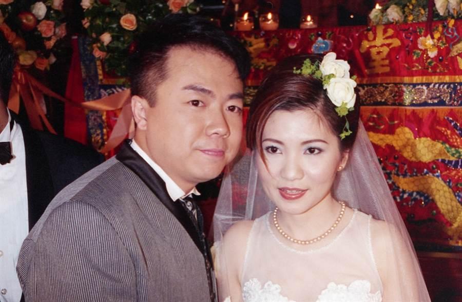 董至成21年前和羅若云甜蜜完婚。(圖/中時資料照片)