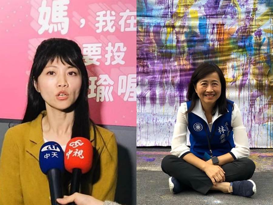 民進黨立委高嘉瑜(左)、國民黨立委林奕華(右)。(圖/資料照合成圖)