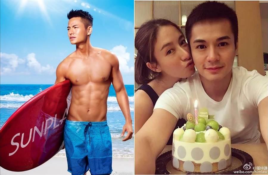 港星羅仲謙(左)與楊怡(右)夫婦結婚4年宣布懷孕,預產期在今年5月。(圖/翻攝自微博)