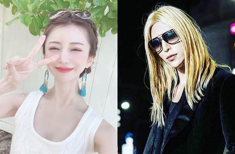 與羅蘭(右)齊名的「日本第一酒店小姐」愛澤繪美里(左),滴酒不沾竟然就可以年收2億。(圖/翻攝自推特)