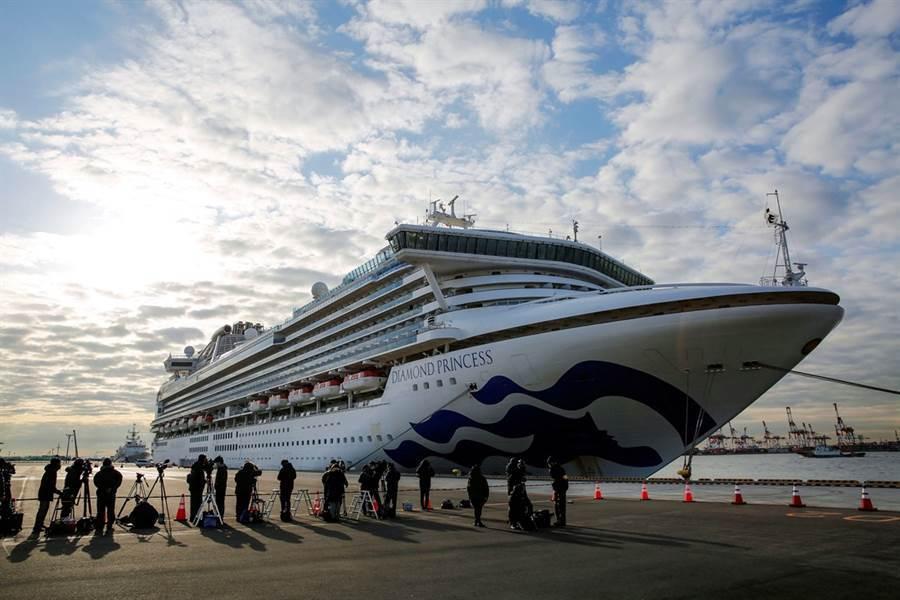 鑽石公主號一再出海又返回橫濱港,其實都是為了補充船上淡水,保持船上水質 (圖/路透)