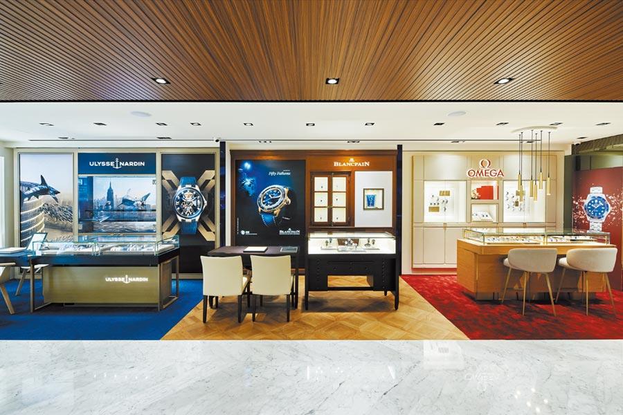 大型鐘表展式微,各大鐘表品牌「化整為零」進駐寶鴻堂,Select Shop的行銷戰略地位愈來愈重要。(寶鴻堂提供)