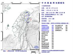 01:49  東部海域發生規模4.8地震