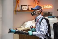 專業消毒殺菌 中保科加入防疫作戰