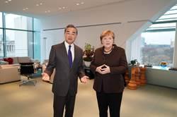 德國總理梅克爾會見陸外長王毅