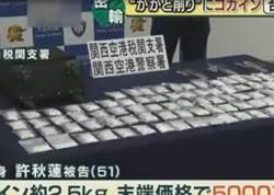 偷運1.4億元古柯鹼闖關 台女大阪關西機場被捕