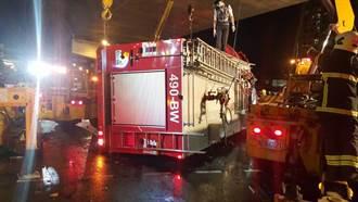 拖板車司機喝提神飲料撞消防車 隊員1死4輕重傷