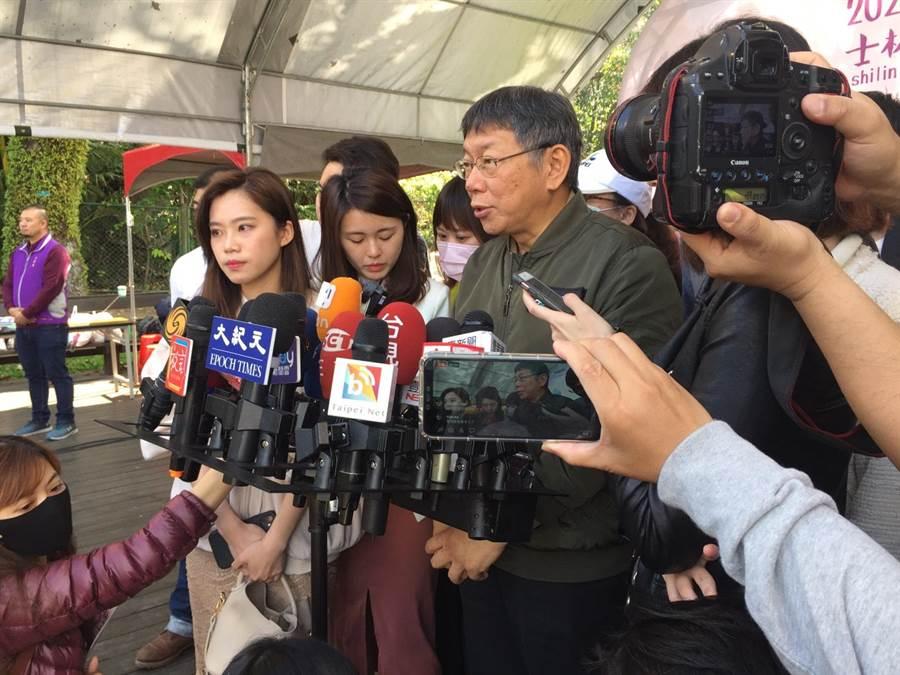 台北市長柯文哲。(張立勳攝)