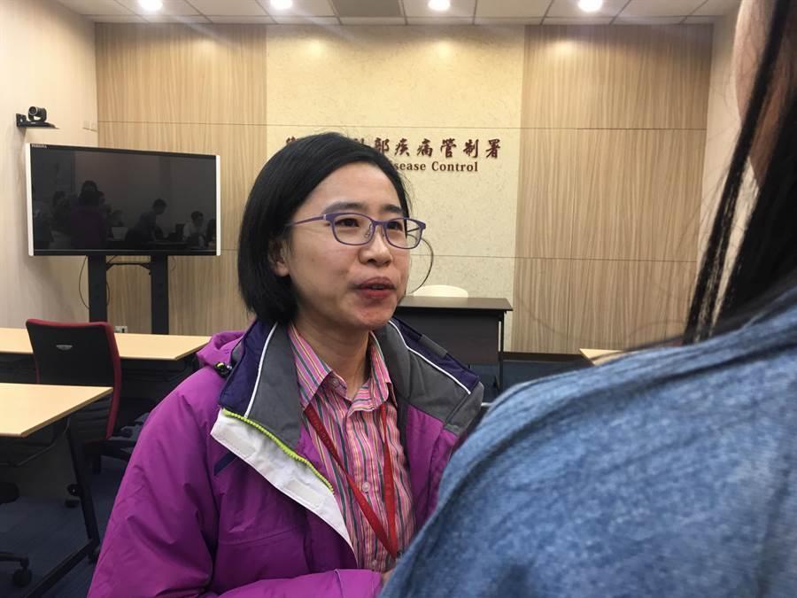 疾管署防疫醫師蘇韋如。(林周義攝)