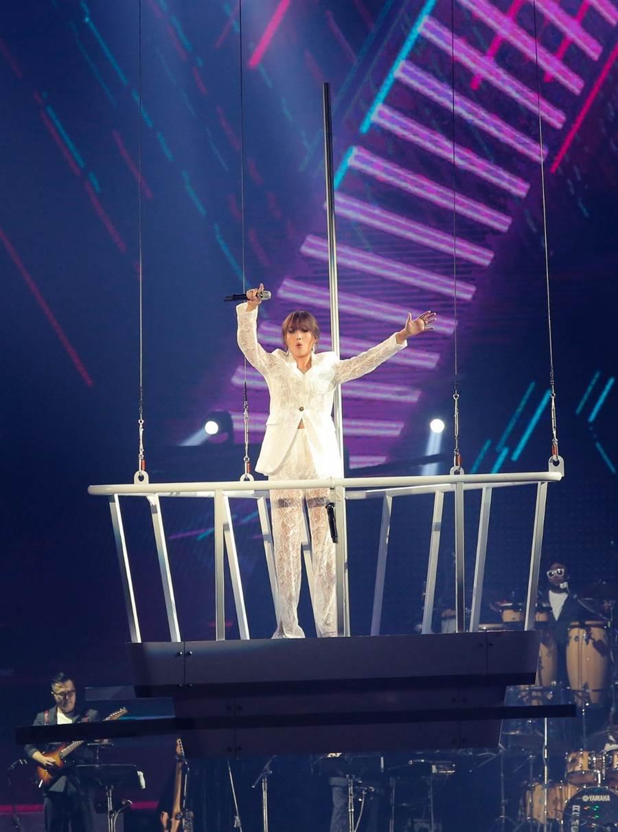 A-Lin 一連3天在台北小巨蛋開唱。(盧禕祺攝)